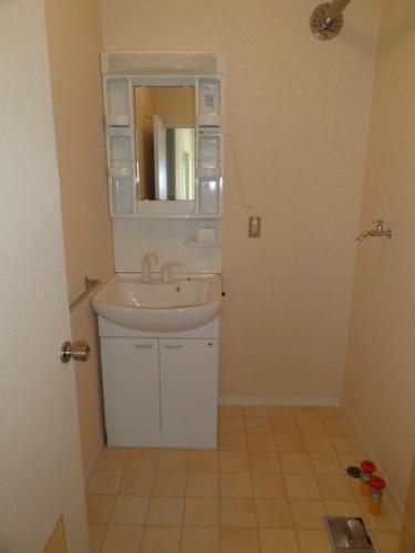 洗面所です。その隣に洗濯機を置くようになっています。