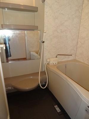 アパートらしからぬ立派なお風呂。ゆっくり肩まで浸かりたい派の方、どうですか〜?