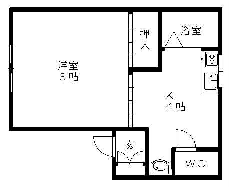 お部屋もキッチンも一人暮らしにちょうどいい広さ。一人暮らしに最適です♪