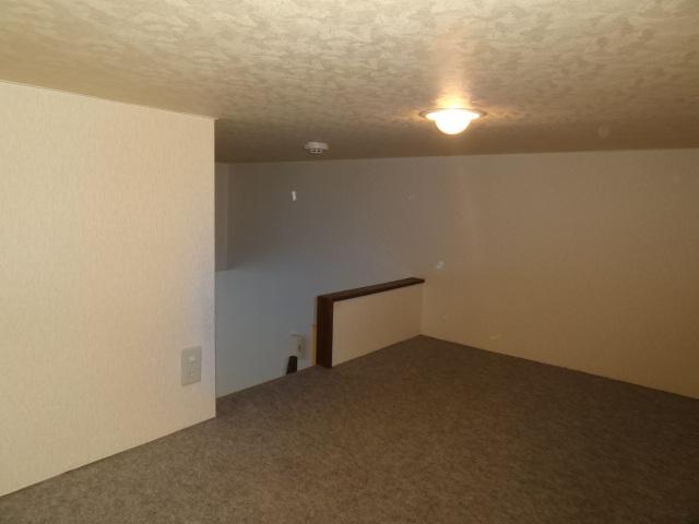 洋室9帖以外にロフト3帖もあります。クローゼット横のはしごから登ります。ゆっくり寝られるくらいのロフトです♪