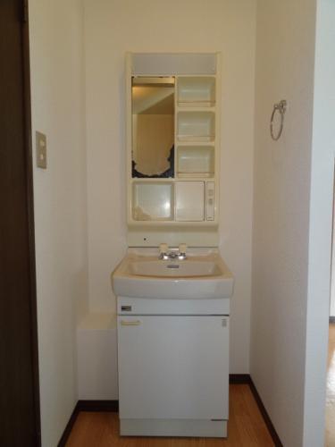 脱衣所には洗面台もちゃんとあります!