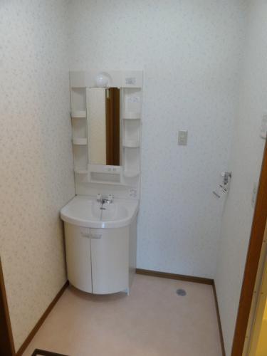 洗面台と、その横に洗濯機置き場です。