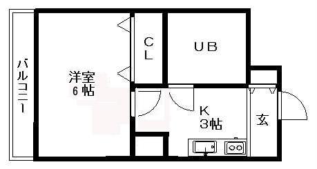 このお部屋はユニットバスタイプです。