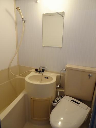 バストイレは一緒ですが、洗浄便座付き!